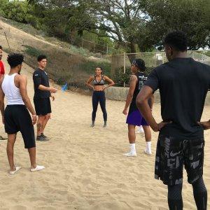 Présence au workout de joueurs des Lakers (Javale McGee, KCP et Quinn Cook) avec notre supporter Sek Henry