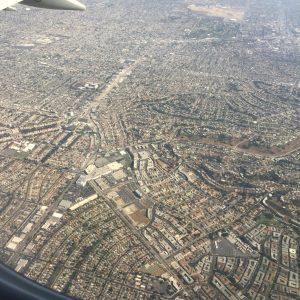 Vue à l'arrivée de Los Angeles